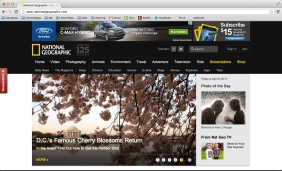 My cherry blossom blog post was featured on the National Geographic home page last weekend.