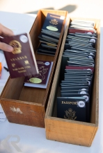 Passports in a box.