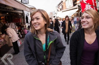 American students in Kyoto, Japan.