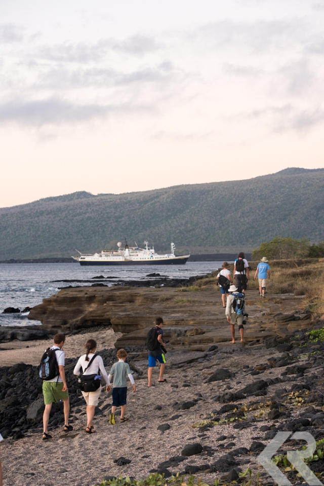 Walking back to ship in Galapagos.