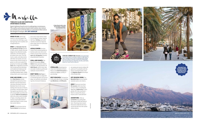 Spread on Marbella Spain in Virtuoso Life