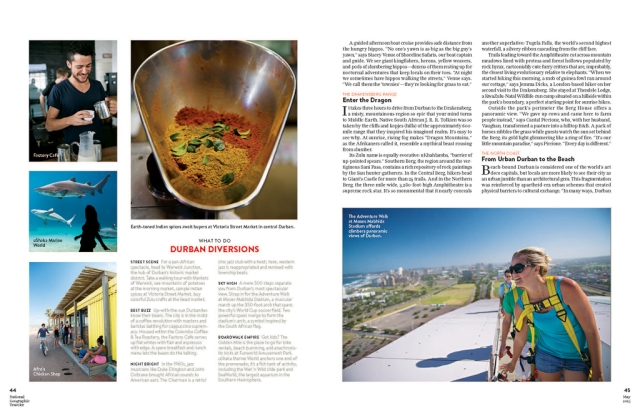 Durban and Kwa-Zulu Natal in National Geographic Traveler magazine