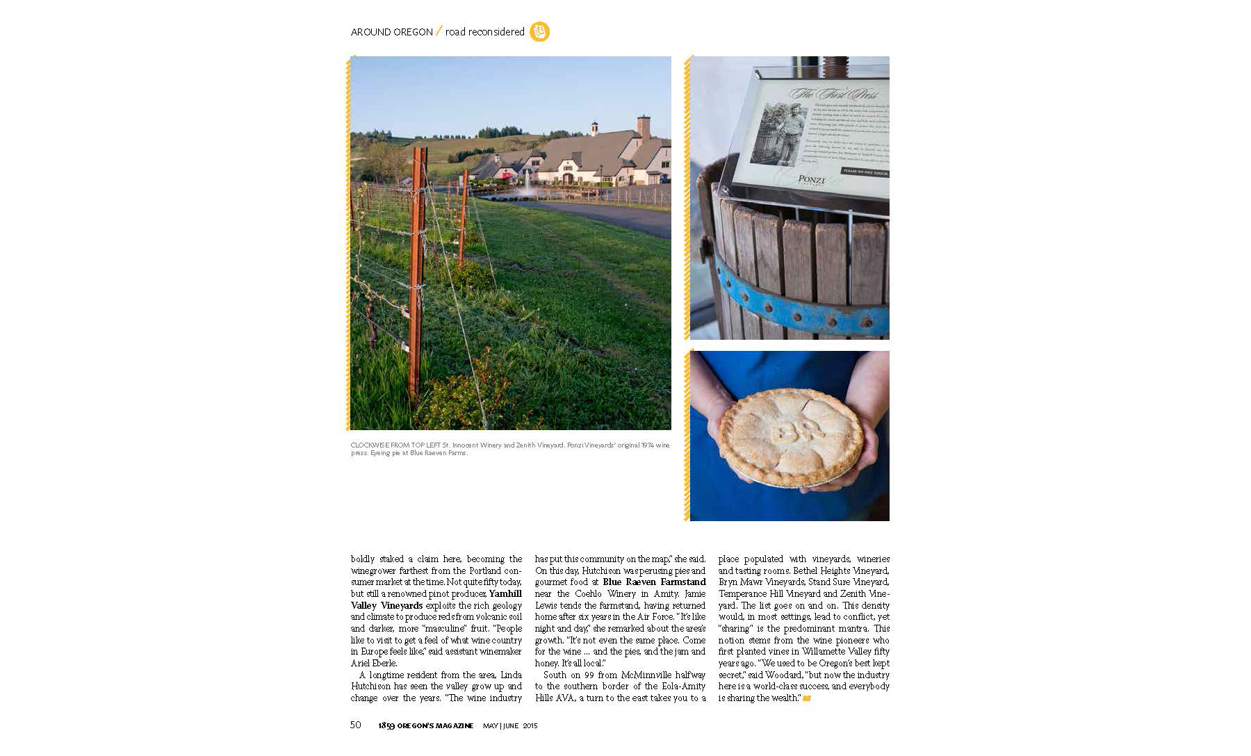 On Newsstands: The Oregon Trail to Pinot Noir – Krista