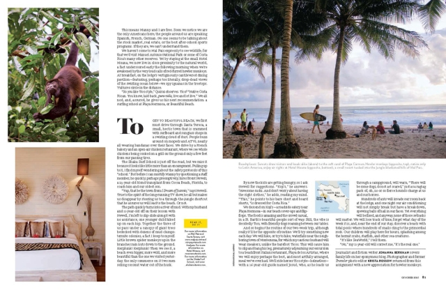 Costa Rica article in National Geographic Traveler