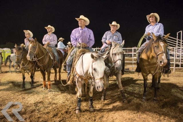 Picture of cowboys at a rodeo in Texas