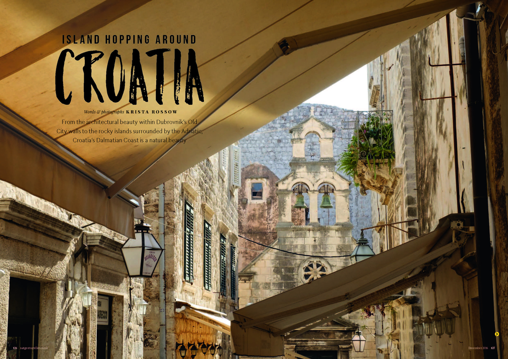December 2016 feature story on Croatia in National Geographic Traveller UK Edition written and photographed by Krista Rossow.