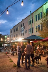 The Sunday night scene at Wedge Brewing Company is filled with live music, brews, and friends gathering.